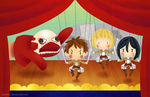 Attack on Puppet Show by LissyFishy