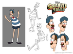 Character Design Assignment One: Gravity Falls by chillyfranco