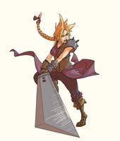 :Commish: Ms Cloud Strife by zeratanus