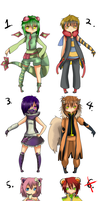 Pokemon Gijinka's adopts batch 1 -Closed- by xXScarletStarletXx