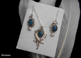 'Magical dance', sterling silver jewelry set by seralune
