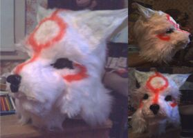 Amaterasu Fur Suit Head by CaptHansIsMyMaster
