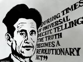 George Orwell by DVLArt