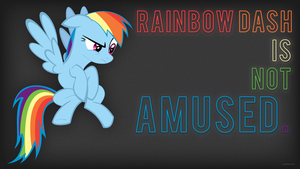 Rainbow Dash is not amused. by JoeWithers