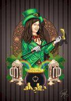 Irish themed portrait by Vacqs