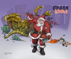 Urban Rivals_Bad Santa by Agregor