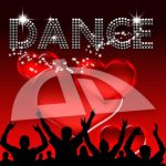 Dance poster valentine's day glass hearts by bertold