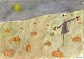 watercolor scarecrow by bitterfly