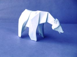 Origami Polar Bear by Orestigami