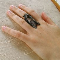 Black Cicada Ring by MadArtjewelry