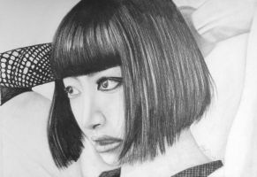 F(x) Song Qian (Red Light) - [Graphite Drawing] by pandatory