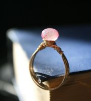 Chalcedony Gold Ring by WrappedbyDesign