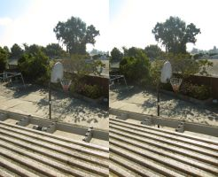 Stereograph - Basketball Hoop by alanbecker