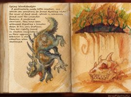 Spiny Woodsbadger::field study by BonePileStudio