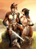 Hurain and Furrow by WoadedFox