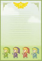 Zelda FOUR SWORDS Stationary by Wasil