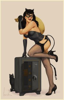 Catwoman Pinup by SpicyDonut