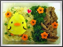Baby Chicken Bento by rltan888