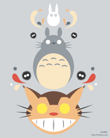 Totoro and Friends by HeyKannaya