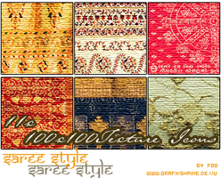 Texture Saree Style Set by FooWater