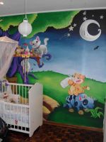 Baby room wall mural final by JustinMain