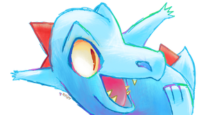 3.Totodile (30daychallenge) by littlenicky