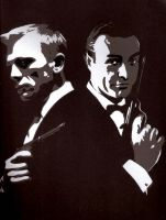 007: Then and Now - Stencil by theraineydaze