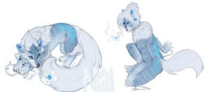 GO Avatar Art: Winter White by SadWhiteRaven