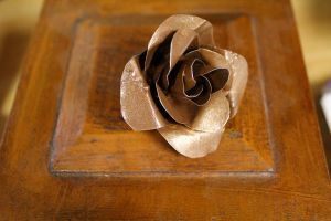 Steampunk Rose Pin by medievalfaery