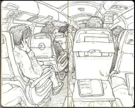 Sketchbook - First leg to LA by keiross