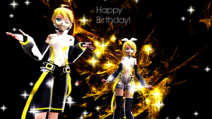 Append Rin and Len~Birthday Card~ by SephirNoctalgia