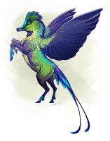 Violet-Tailed Sylph Pegasus by CharReed
