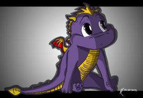 # 1 Baby Classic Spyro by TheDragonCat