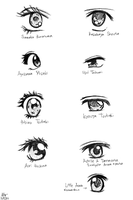 Shoujo Manga Couple Eyes P1 by Katantoon