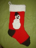 Snowman Stocking by audreydc1983