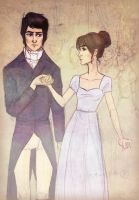 Elizabeth and Mr Darcy Dance by Dinoralp