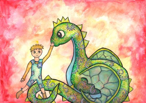 The Boy and his Dragon by twopixies