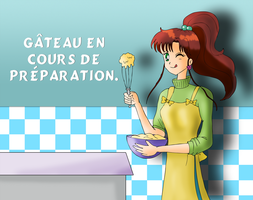 Cake under baking by ZeFrenchM
