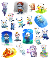 Otter Everywhere by Jinna