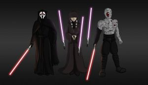 The Sith Triumvirate by GuiMontag