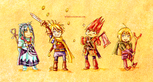 Golden Sun - Chibi Team One by neshirys