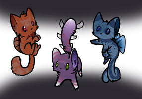 Sea Monster Cat Adopts! by OrginX