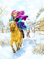 Snowy Race by aconite-pawlove