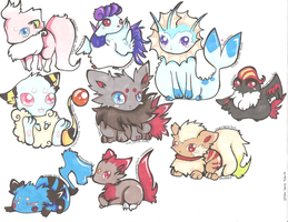 Pokemon Customs by PinkMelodii