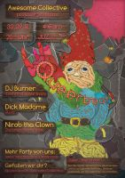 Garden Dwarf Party Advertising by Momentanaufnahme