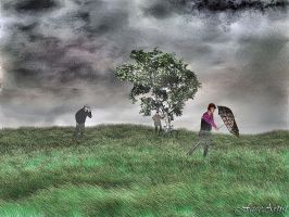 Windy Heath by TheFaceArtiste