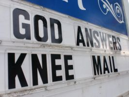 God Answers Knee Mail by smilejustbcuz