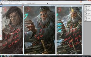 timeline painting for just a face.. by alikasapoglu