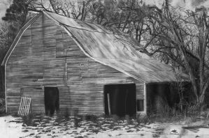 Barn Drawing (Graphite) by artmkc