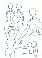 female poses by punkyphase3118